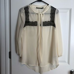Forever 21 tie-neck blouse